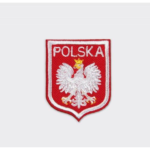 Naszywka Polska orzeł biała lamówka