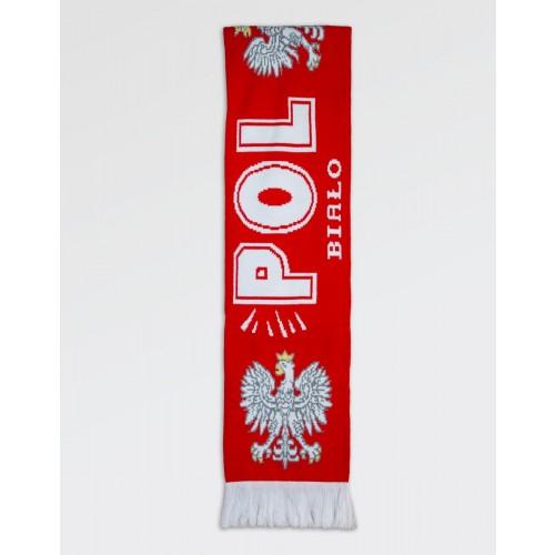Szalik kibica Polska Orzeł Biało-Czerwony I gruby dwustronny