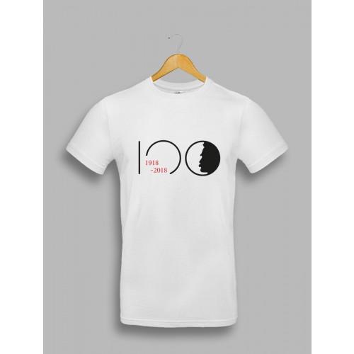 "Męska biała koszulka - ""Piłsudski 100"""