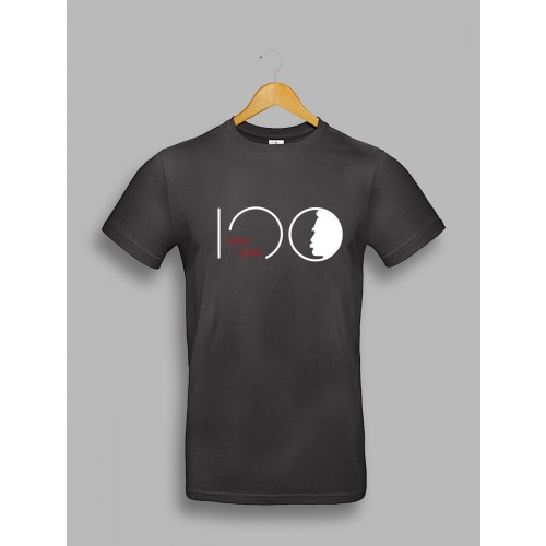 "Męska czarna koszulka - ""Piłsudski 100"""
