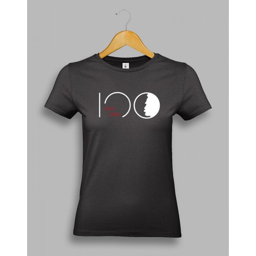 "Damska czarna koszulka - ""Piłsudski 100"""