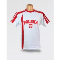 Koszulka Kibica Polska biała z haftem