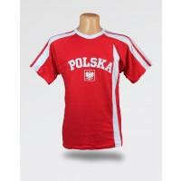 Dziecięca Koszulka kibica Polska czerwona z haftem