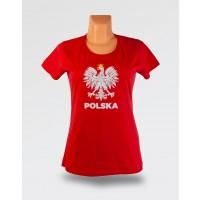WDK koszulka czerwona z orłem w koronie damska