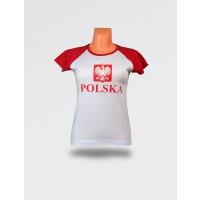 Koszulka damska Polska stylizowane godło
