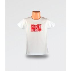WDK Koszulka dziecięca biała Mały Kibic dla dziewczynki