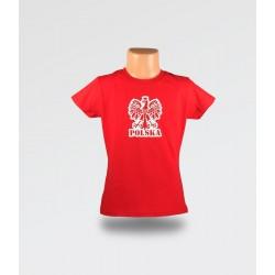 WDK Koszulka dziecięca czerwona Orzełek dla dziewczynki