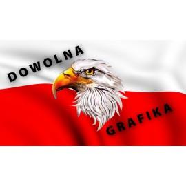 Flaga  z własnym nadrukiem 60/100 cm