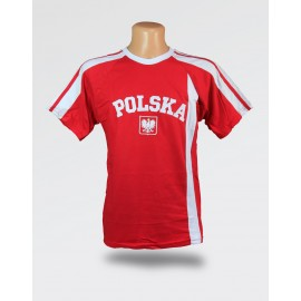 Koszulka Kibica Polska czerwona z haftem