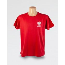 WDK czerwona koszulka z orłem w koronie na piersi męska
