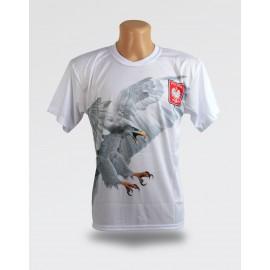 Koszulka dziecięca z dużym orłem i napisem Polska