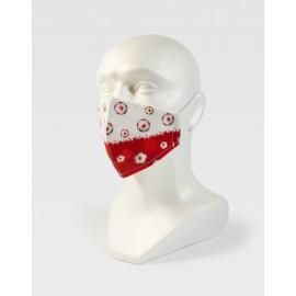Maseczka na twarz biało-czerwona  WDK PIŁKI POLSKA