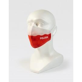 Maseczka na twarz biało-czerwona WDK POLSKA