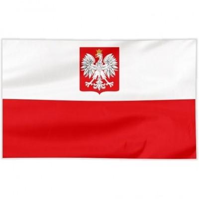 Flaga Polska szyta orzeł 120/75 cm