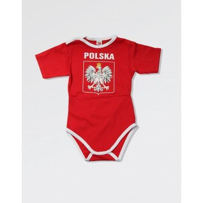 Body dla małego kibica Polski - czerwone duże godlo