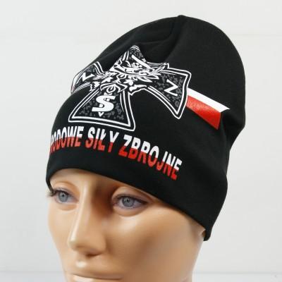 Czarna cienka czapka - Narodowe Siły Zbrojne