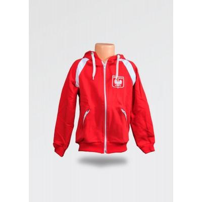 Czerwony dres dziecięcy Polska