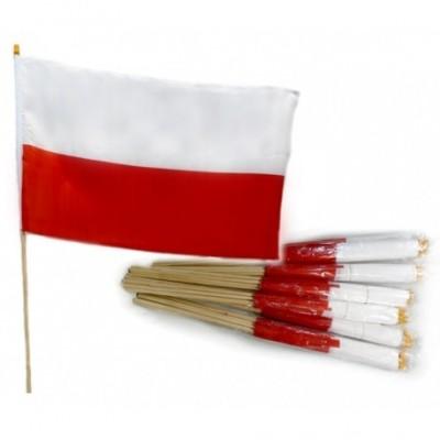 Flaga Polski - chorągiewka - 45/30 cm
