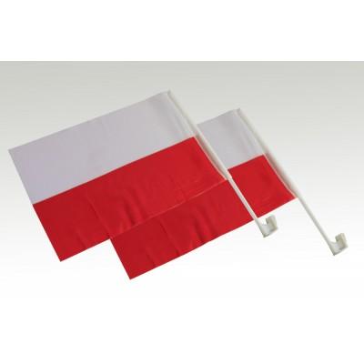 Flagi samochodowe biało-czerwone - 2 szt.
