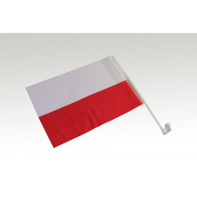 Flaga samochodowa biało-czerwona