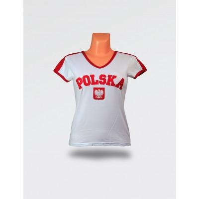 Koszulka damska Polska biała