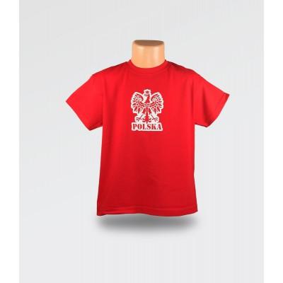 WDK Koszulka dziecięca czerwona Orzełek dla chłopca