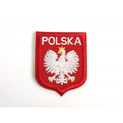Naszywka Polska  orzeł czerwona lamówka