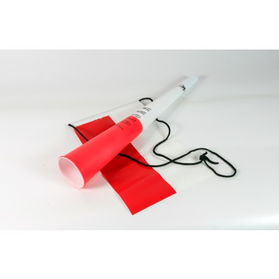 Biało-czerwona trąbka z flagą