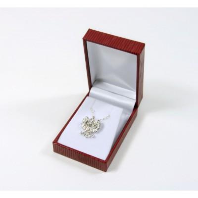 Wisiorek z łańcuszkiem orzeł - srebro próby 925