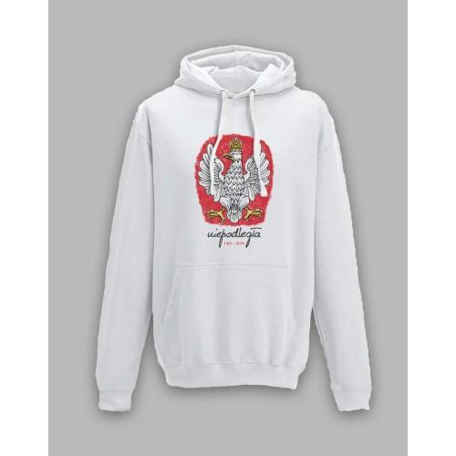Bluza z orłem, stylizowanym na godło Polski 1918-2018 Biała