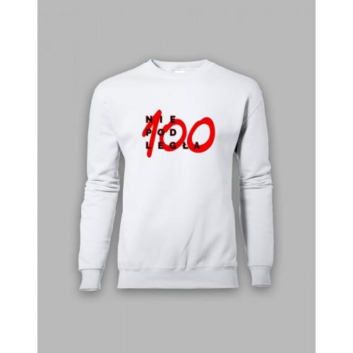 """Biała bluza bez kaptura """"Niepodległa 100"""""""