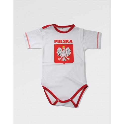 Body dla małego kibica Polski - białe duże godło