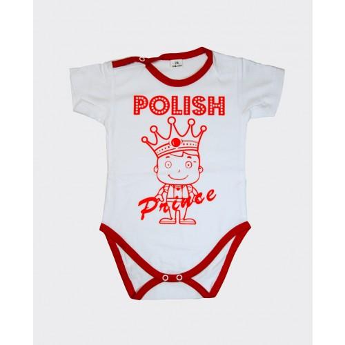 Body z krótkim rękawem - Polish Prince