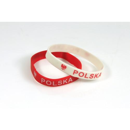 Opaska silikonowa Polska - 2 sztuki