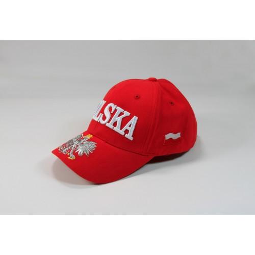 Czapka kibica bejsbolowa Polska orzeł flaga czerwona