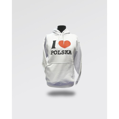 Bluza I love Polska biała