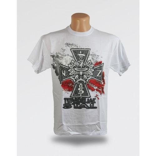 Biała koszulka - Twardzi jak stal