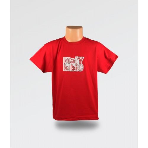 WDK Koszulka dziecięca czerwona Mały Kibic dla chłopca