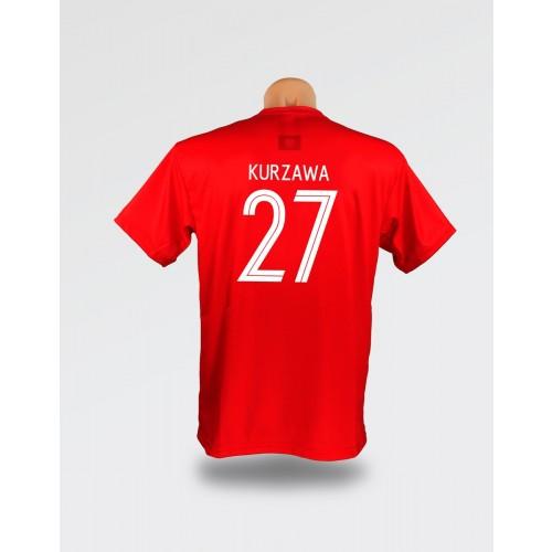 Czerwona dziecięca koszulka Kurzawa