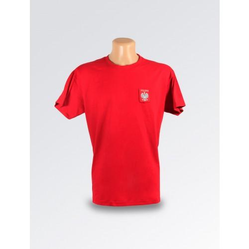 Czerwona koszulka ze stylizowanym godłem Polski II