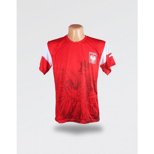 Czerwona koszulka dziecięca duży orzeł