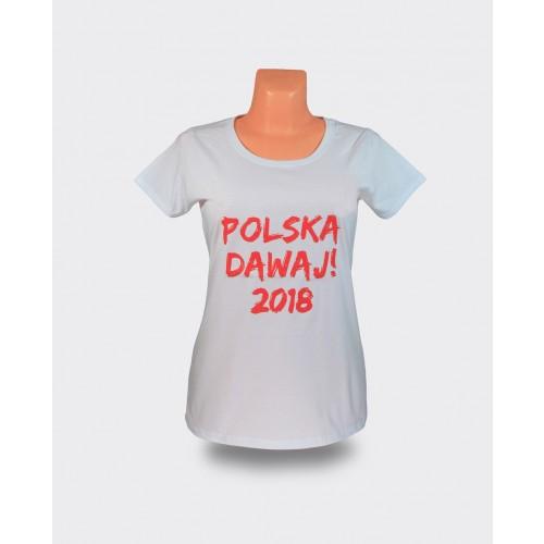 Koszulka damska Polska Dawaj 2018! bez orzełka