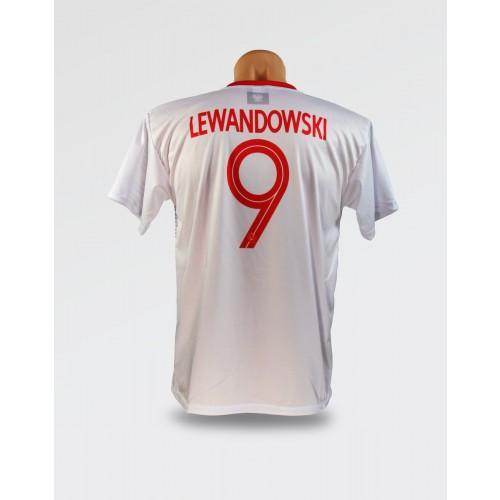 Biała koszulka Lewandowski 2018