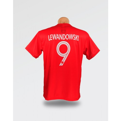 Czerwona dziecięca koszulka Lewandowski 2018