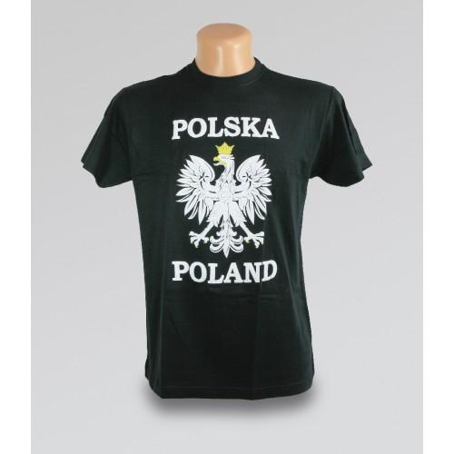 T-shirt Polska orzeł czarny
