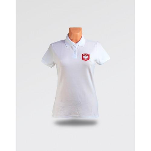 Koszulka Polo Biała damska