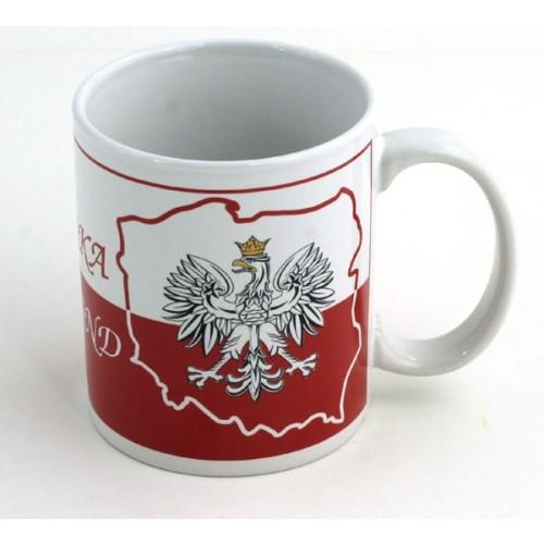 Biały kubek Polska - Tapeta