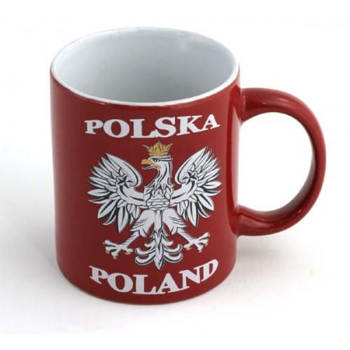 Kubek czerwony Polska - Orzeł