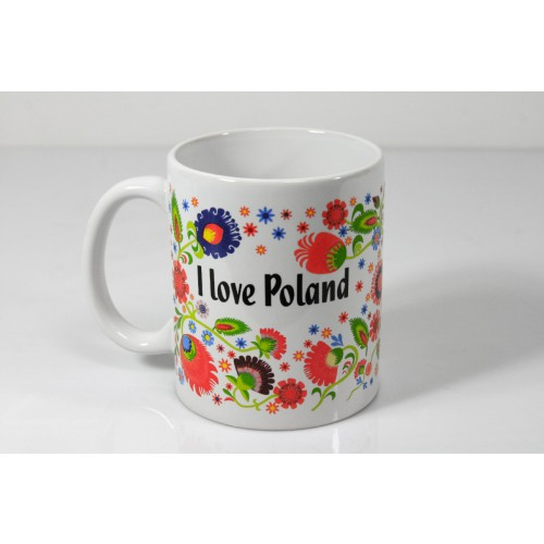 Kubek boss Folk - I love Poland