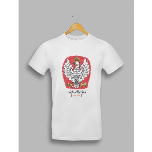 Męska koszulka z orłem, stylizowanym na godło Polski 1918-2018